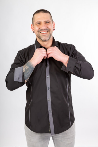 Herrenhemd Romano_Black Beauty